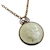 "Morgan Dollar Replica in Coppertone Pendant 30"" Chain"