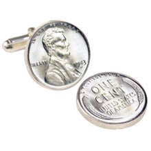 1943 Lincoln Steel Penny Cuff Links