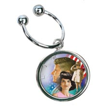 Colorized JFK Family Half Dollar Keychain