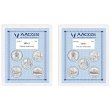 2010P & 2010D Unites States National Parks & Sites Quarters Graded MS63 Brilliant Uncirculated