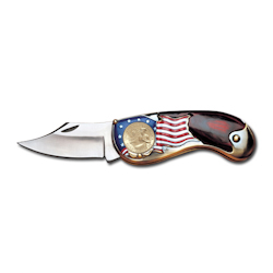 Gold-Layered, Dual-Dated Bicentennial Quarter Pocket Knife