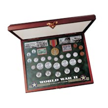 Comprehensive World War II Coin & Stamp Set