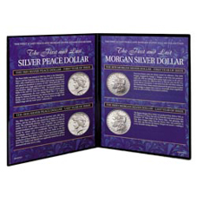 First and Last Morgan and Peace Dollar Collection