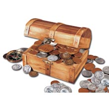 Treasure Chest of 51 Historic Coins