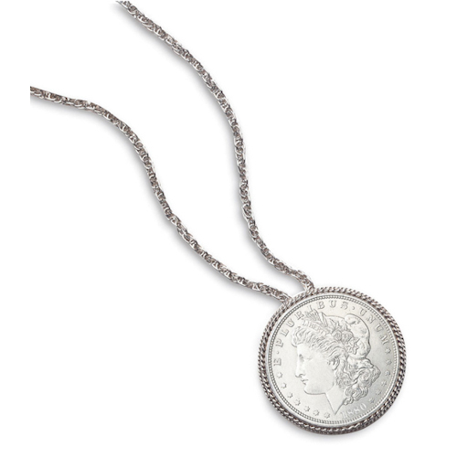 Silver dollar pinpendant morgan silver dollar pinpendant mozeypictures Choice Image