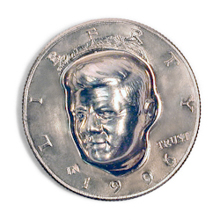 3-Dimensional JFK Half Dollar