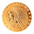 Tribute to America's Most Beautiful Coins - $5 Indian Head Gold Piece 1908-1929 Replica Coin