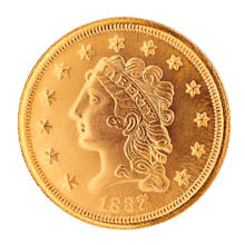 Tribute to America's Most Beautiful Coins - Classic Head $2.50 Gold Piece 1834-1839 Replica Coin