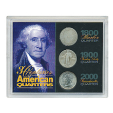 3 Centuries of American Quarters
