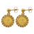 Chinese Panda Coin 14KT Earrings