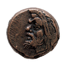 Ancient Greek Bronze Devil Coin