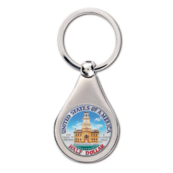 JFK Colorized Bicentennial Half Dollar Key Chain