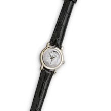 Roosevelt Dime Coin Watch with Black Leather Band