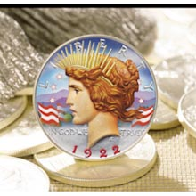 The Colorized Silver Peace Dollar