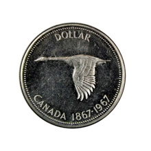 Canadian Goose Dollar Commemorative Silver Coin
