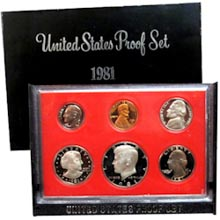 1981	 U.S. Mint Proof Set