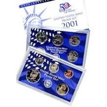 2001	 U.S. Mint Proof Set