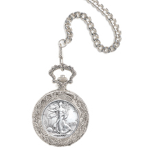 Year To Remember Half Dollar Coin Pocket Watch