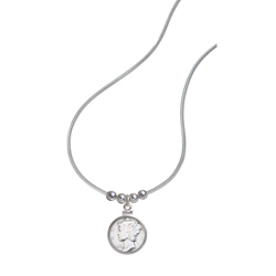 Year To Remember Coin and Sterling Silver Bead Pendant