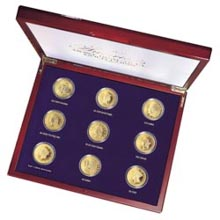 Tribute to Americas Most Beautiful Gold Coins - Set of 9
