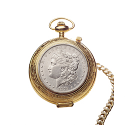 100 Year Old Morgan Silver Dollar Pocket Watch