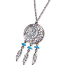 Buffalo Nickel Dream Catcher Pendant
