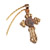 Gold Cross with Widow's Mite Pendant Only