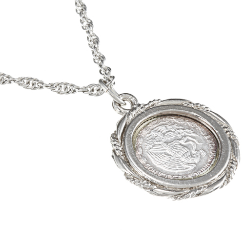 Silver mexican libertad angel pendant mozeypictures Choice Image
