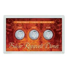 First Three Years of Silver Roosevelt Dimes