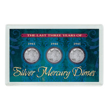 Last Three Years of Silver Mercury Dimes