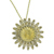 Goldtone Liberty Nickel Coin Pin/Pendant with Crystals Coin Jewelry