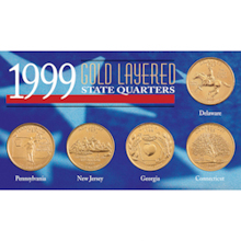 1999 Gold-Layered State Quarters