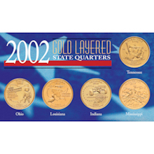 2002 Gold-Layered State Quarters