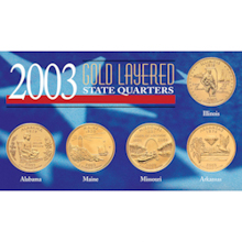 2003 Gold-Layered State Quarters