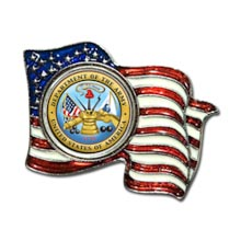 Armed Forces Colorized Quarter Flag Pin - Army