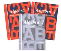 EIGHTH GRADE: Saxon Algebra I Homeschool Kit