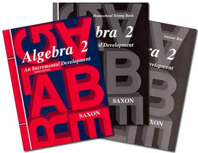 NINTH GRADE: Saxon Algebra II Homeschool Kit