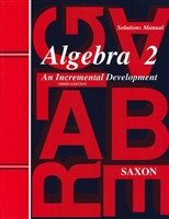 NINTH GRADE: Saxon Algebra II Solutions Manual
