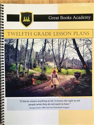 Great Books Academy Grade 12th Grade Lesson Plans binder