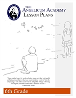 6th Grade Lesson Plans in a spiral-bound binder