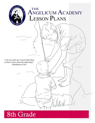 Angelicum Academy 8th Grade Lesson Plans binder