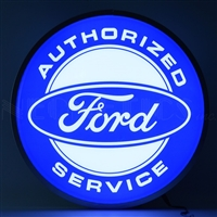 15 INCH BACKLIT LED LIGHTED SIGN FORD AUTHORIZED SERVICE