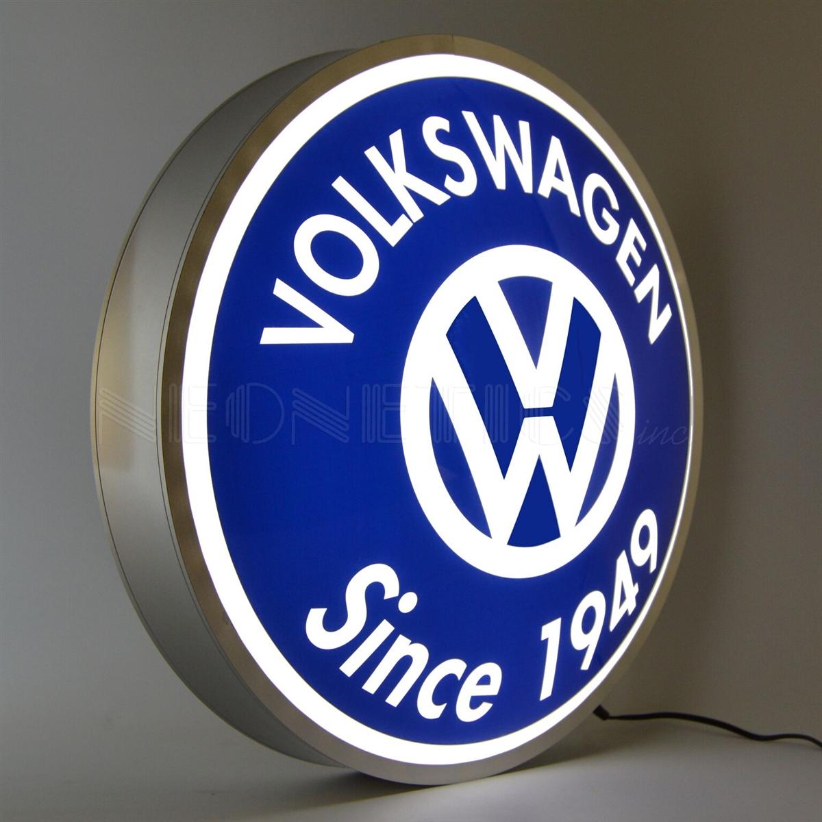 15 INCH BACKLIT LED LIGHTED SIGN VOLKSWAGEN SINCE 1949