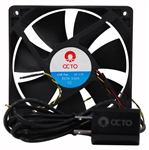 "VASCA Octo AF-120 4.25"" Variable Speed Fan Wholesale Aquarium Supply"