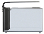 JBJ Rimless Desktop 6 Gallon Curved Glass Aquarium w/ LED Light (RL-6-CP)