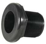 "JT Manufacturing Bulkhead 1/2"" Slip x Thread, Black"