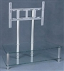 "Universal Stand with Glass & Mount up to 65"", Two Shelves Black"
