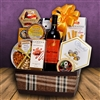 Velvet and Plaid Gift Basket