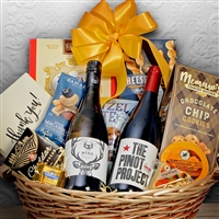 Chardonnay & Pinot Themed Gift Basket