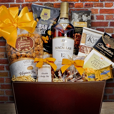 Macallan 12 Year Scotch Gift Basket